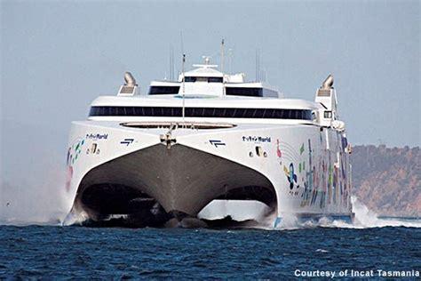 Catamaran Ferry In Rough Seas natchan world catamaran ferry ship technology