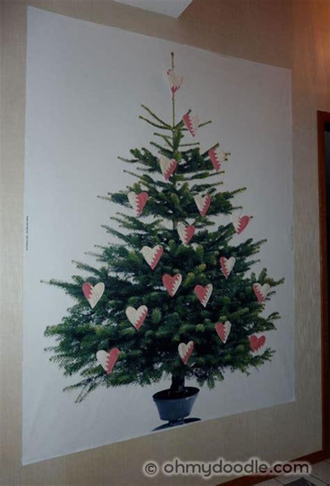 ikea margareta fabric tree with hearts ohmydoodle