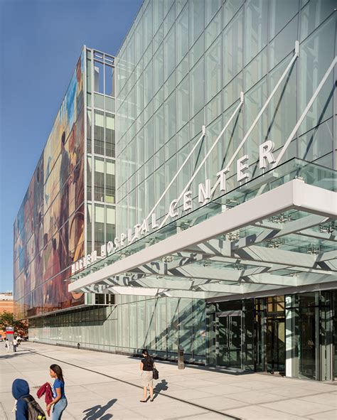 glass curtain wall digital printing harlem hospital ny