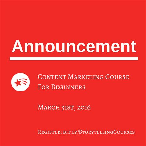 Content Marketing Course by Announcing New Course Content Marketing For Beginners