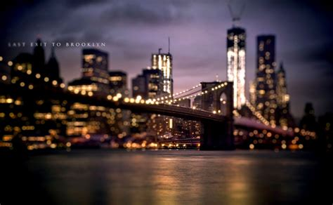 brooklyn bridge  york city bokeh hd wallpaper