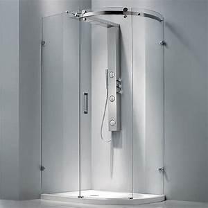 douche complete parois receveur et colonne rod 2 aquabains With porte de douche coulissante avec radiateur infrarouge salle de bain avec minuterie