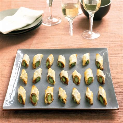 berry s asparagus filo rolls recipe canape recipes