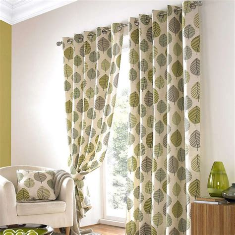 Patterned Curtains And Drapes - white and green curtain stylish patterned curtains inside