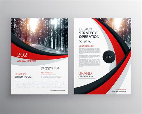 business flyer brochure design template  red  black