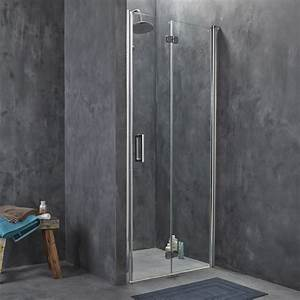 Porte de douche pivo pliante breuer entra verre de for Douche porte pliante