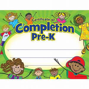 pre k certificate of completion tcr4588 teacher With pre k award certificate templates