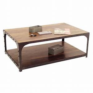 Table Basse Loft : table basse esprit industriel ambiance loft pour le salon ~ Teatrodelosmanantiales.com Idées de Décoration