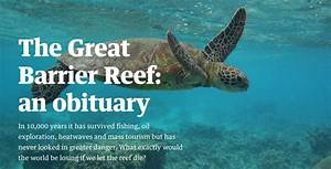 The Great Barrier Reef  An Obituary