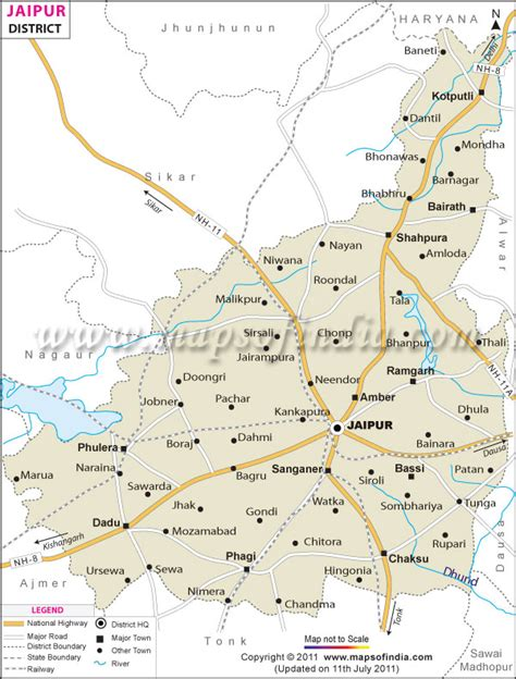 jaipur district map