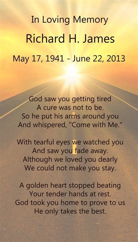 trucker road  heaven poem funeral verses mourning
