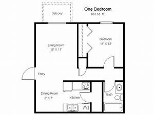 900 sq ft open floor plans 1 bedroom 1 bathroom 2d floor With one bedroom apartment open floor plans