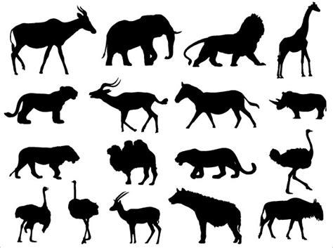 animals silhouettes vector   vector art