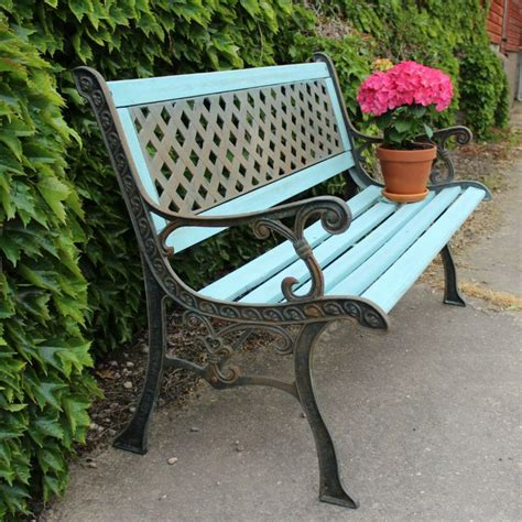 wrought iron painted garden bench outdoor inspirations