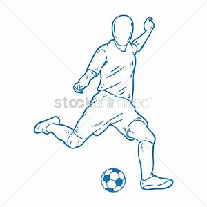 coloring pages of football player. sketch of a kicking ...