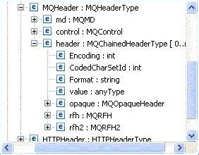 java  access  websphere mq header