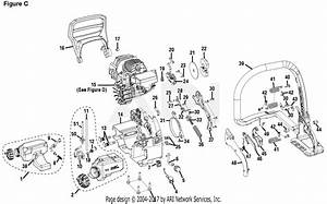 Homelite Ut10640 14 In  42cc Chain Saw Parts Diagram For Figure C