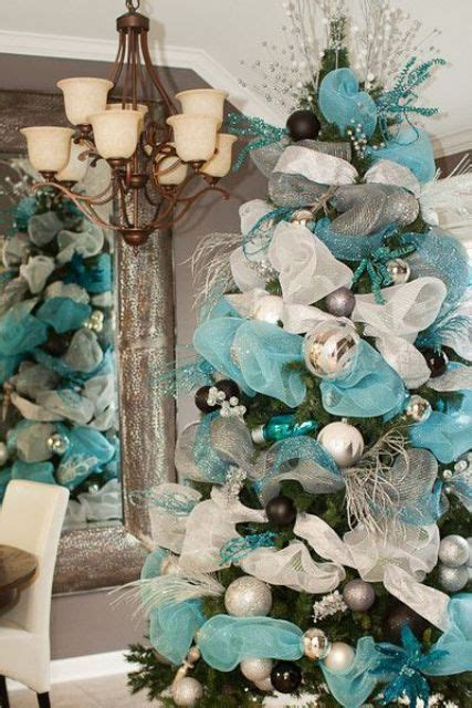 35 silver and blue d 233 cor ideas for christmas and new year digsdigs
