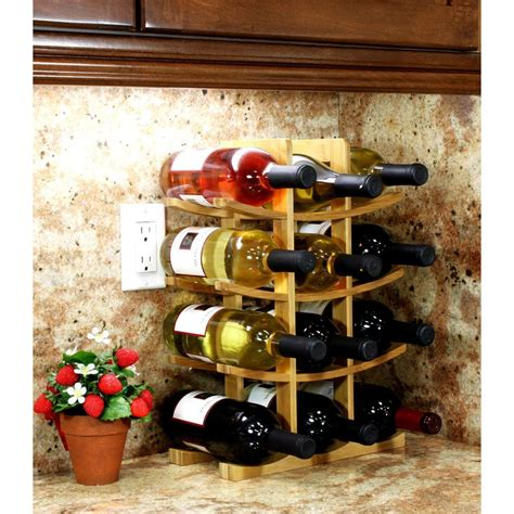 countertop wine rack oceanstar 12 bottle bamboo countertop wine rack wr1149