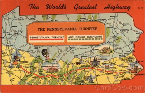 map   pennsylvania turnpike maps