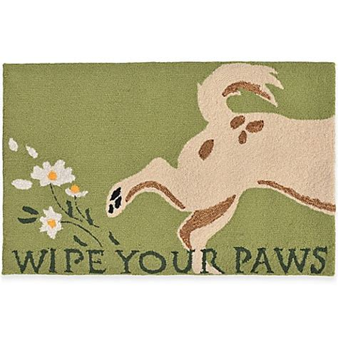 Wipe Your Paws Doormat by Trans Wipe Your Paws Accent Rug Bed Bath Beyond