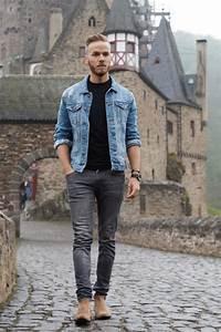Blau Und Schwarz Kombinieren : fashion jeansjacke richtig kombinieren lifestyle blog fashion travel lifestyle ~ Buech-reservation.com Haus und Dekorationen