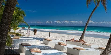 Pool And Bar Service At The Beach Tulum Hotel