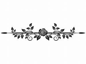 Rosen Tattoos Schwarz : rosenranke wandtattoo als wandtattoo rosen ranke rosenbl ten ~ Frokenaadalensverden.com Haus und Dekorationen