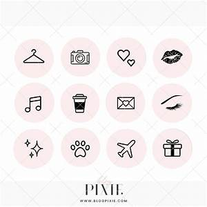 Instagram Highlight Icons - Light Pink and Black ⋆ Blog Pixie
