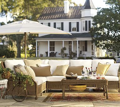 Saybrook Barn by Saybrook All Weather Wicker Sectional Set Pottery Barn