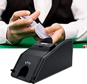 And it keeps folks that are shuffling challenged from running for the door! Amazon.com : give your best Automatic Card Shuffler Electronic PU Leather Shuffler 2 in 1 ...