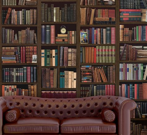 bookshelf mural bookcase self adhesive wall mural by oakdene designs