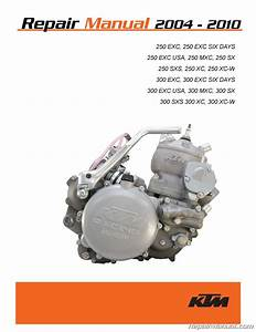 2004  U2013 2010 Ktm 250 300 Two Stroke Printed Motorcycle Service Manual