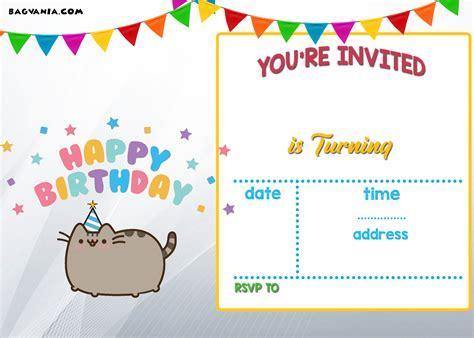 printable kids birthday invitations bagvania
