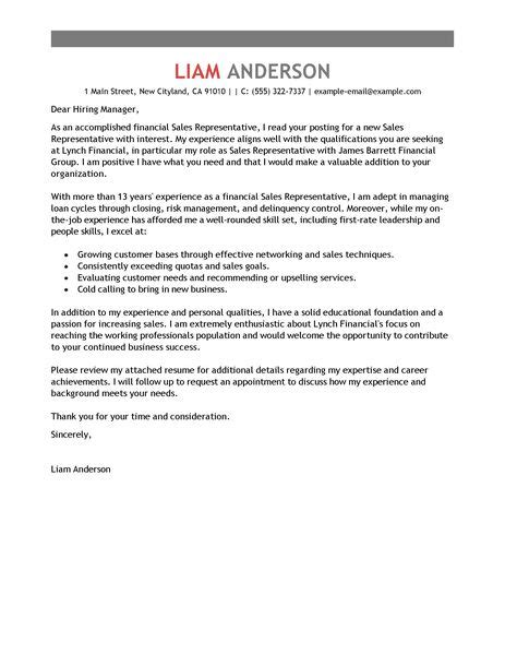 Furniture Sales Cover Letter by Sales Representative Cover Letter Exles Accounting