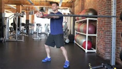 anti rotation band chest press exercise