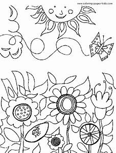 Flower Garden Coloring Pages - Flower Coloring Page