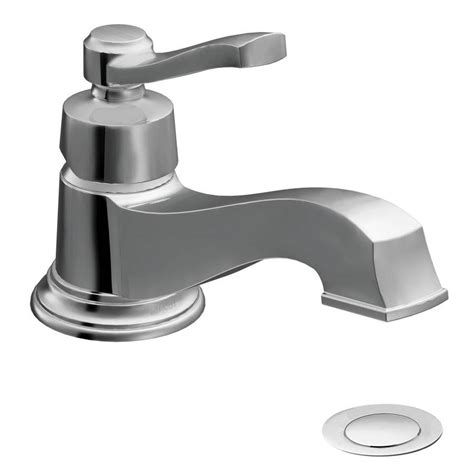 moen rothbury faucet chrome shop moen rothbury chrome 1 handle 4 in centerset