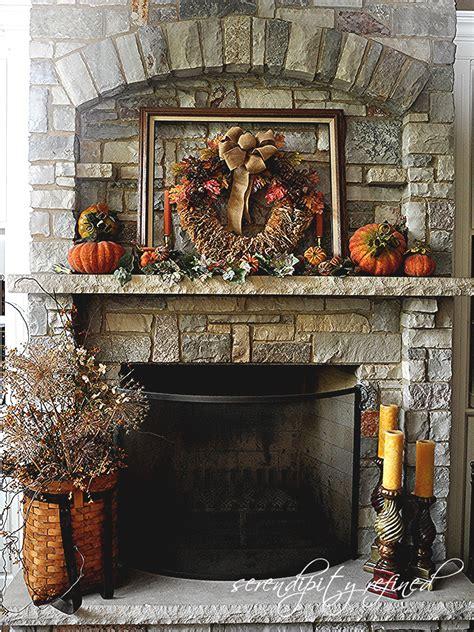 serendipity refined blog fall decorating mantels