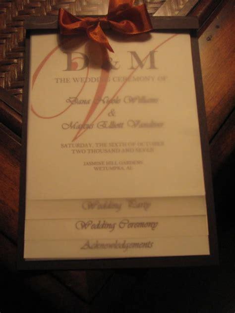 wedding programs diy layered wedding programs