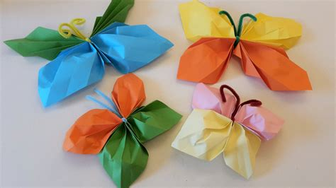 Bunte Schmetterlinge Aus Papier Basteln  Der Familienblog