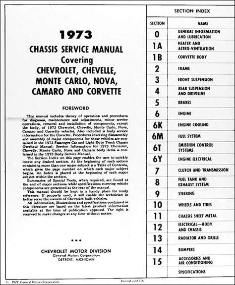 car maintenance manuals 1978 chevrolet camaro electronic valve timing 1973 chevy car repair shop manual original chevelle camaro monte carlo nova corvette