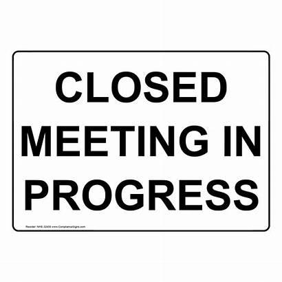 Meeting Progress Disturb Nhe Closed Close