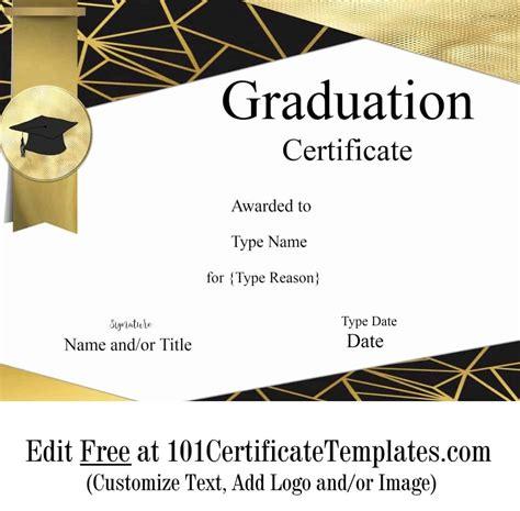 graduation certificate template customize