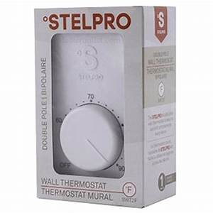 Line Voltage Thermostat  Electric Heaters Only  Stelpro