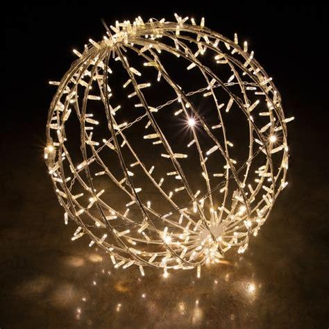 warm white led commercial mega sphere christmas light