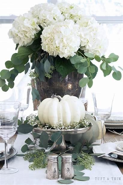 Fall Decor Neutral Elegant Tablescape Centerpiece Tuftandtrim