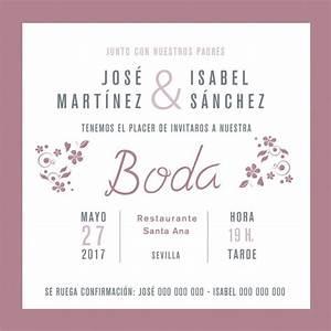 Invitacion de boda vintage enmarcada