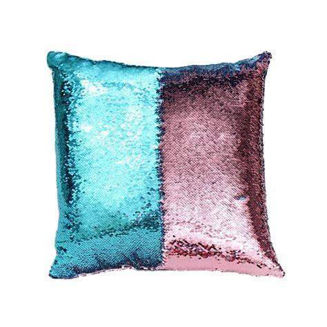 reversible sequin mermaid pillow reversible sequin mermaid glitter sofa cushion cover 4840