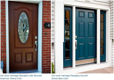 fiberglass entry door vs steel